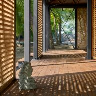 Moveable walls of Mumbai Artist Retreat by Architecture Brio in Alibag, India
