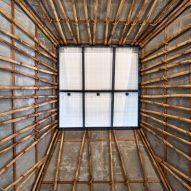 Solar panel skylight of Mumbai Artist Retreat by Architecture Brio in Alibag, India
