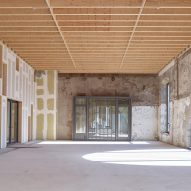 Wooden ceiling at Ateliers des Capucins by Atelier L2