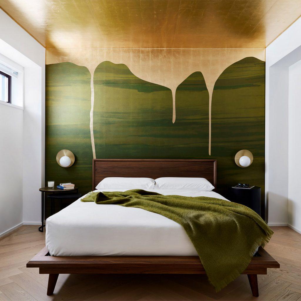Seven bedrooms with eye-catching statement walls | Dezeen