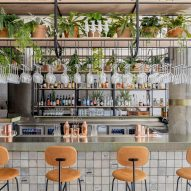 Restaurant inside London's Bermonds Locke hotel designed by Holloway Li