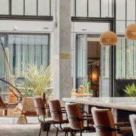 Reception of Bermonds Locke hotel in London designed by Holloway Li