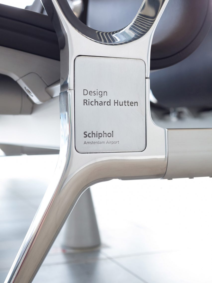 Richard Hutten melts down Schiphol airport's old chairs for new Blink seating system with Lensvelt