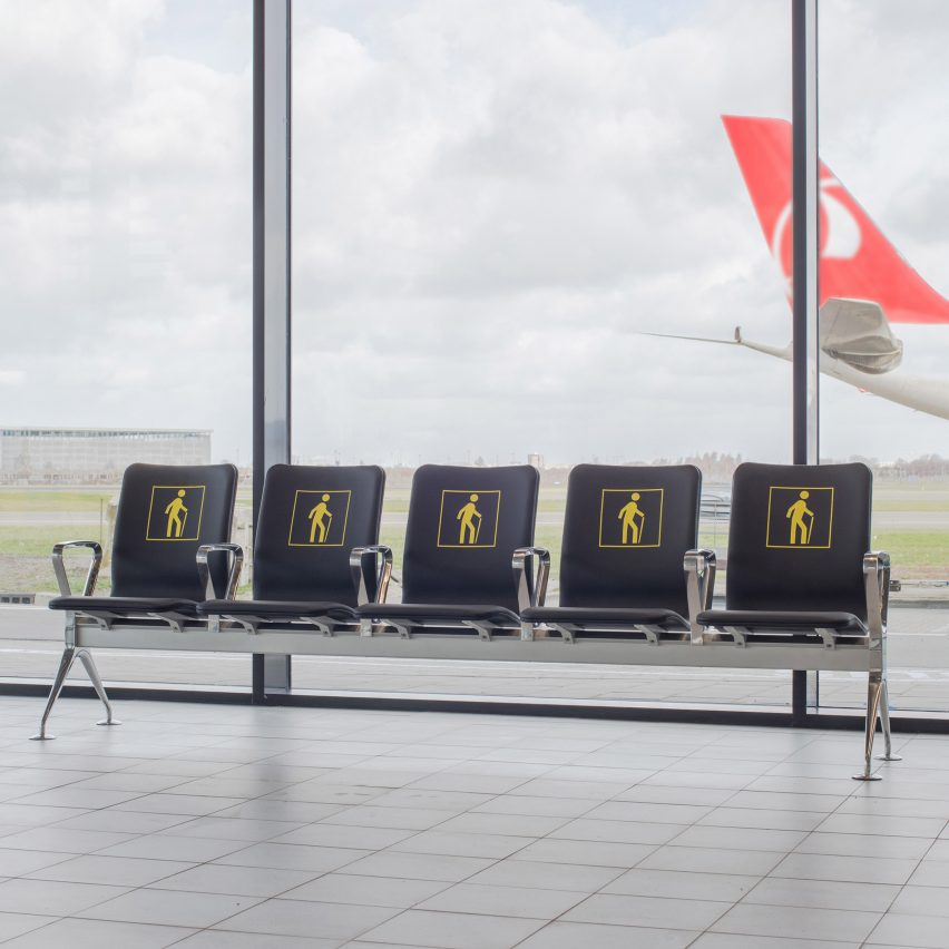 "Richard Hutten melts down airport's old chairs for ""radical"" new seating system"