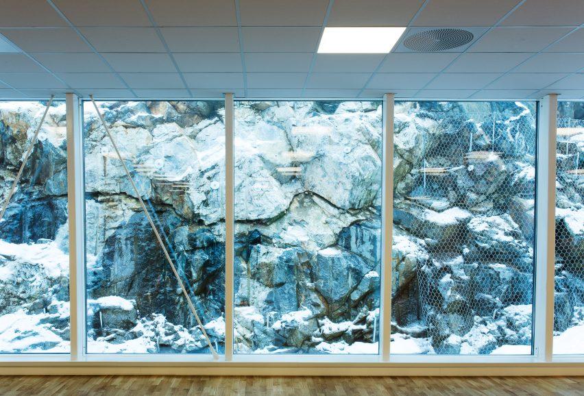 Windows of Bølgen Bath and Leisure Centre by White Arkitekter