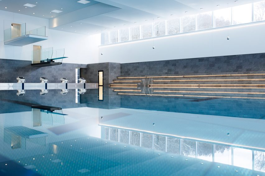 Swimming pool for Bølgen Bath and Leisure Centre by White Arkitekter
