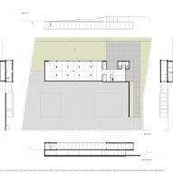 Plans of Canine and feline hotel by Raulino Silva Arquitecto