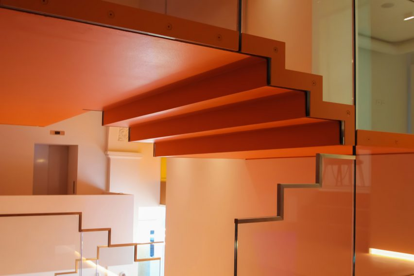 Colourful stairwell at MEET Milan