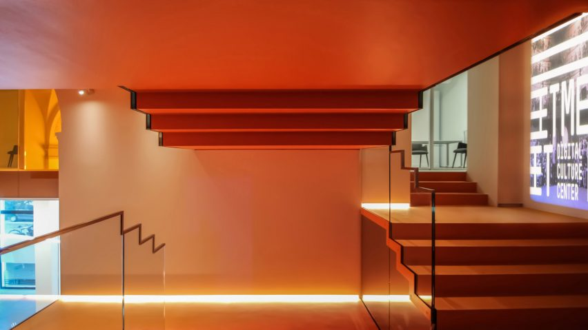 Meet Milan stairwell by Carlo Ratti