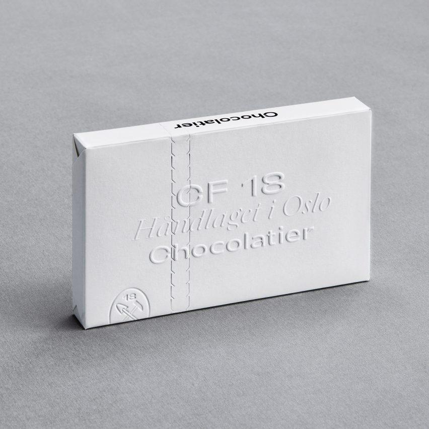 OlssønBarbieri cuts out plastic in minimalist CF18 Chocolatier packaging