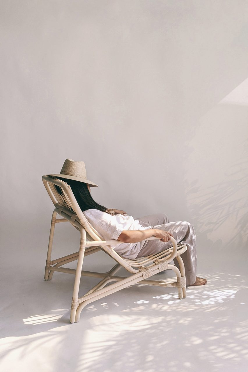 Rattan lounge chair by Christian Vivanco for Balsa