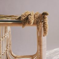 Rattan side table by Christian Vivanco for Balsa