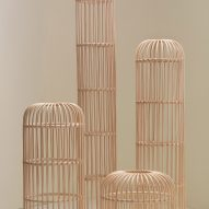 Collection of rattan totems by Christian Vivanco for Balsa