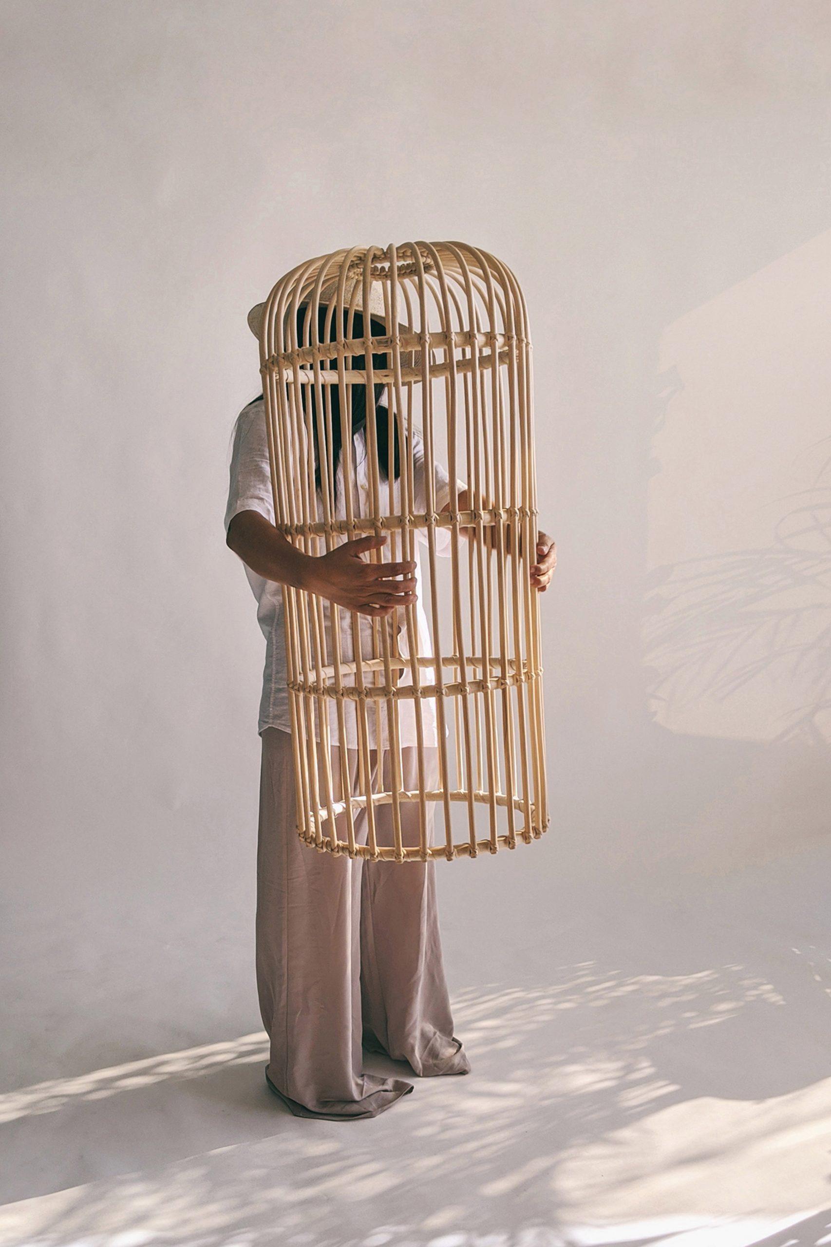 Rattan totems by Christian Vivanco for Balsa