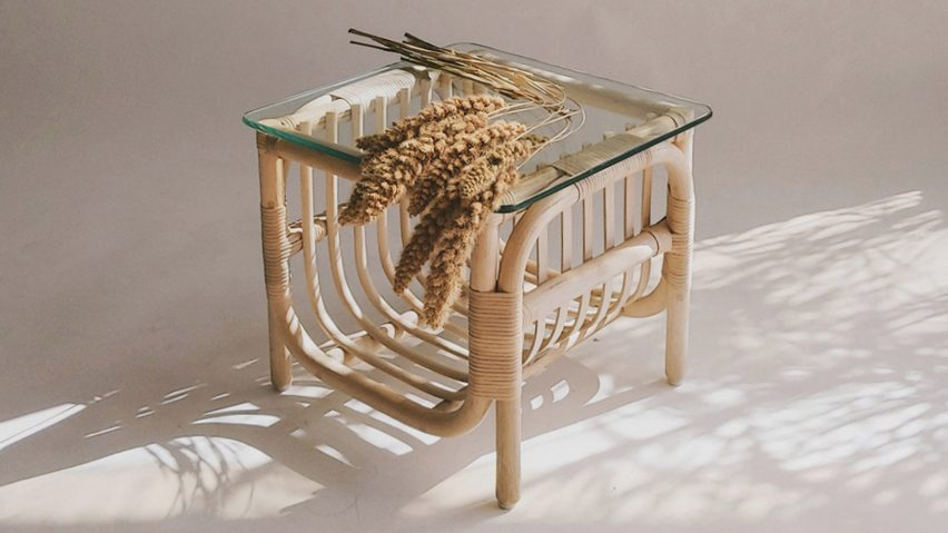 Rattan table by Christian Vivanco for Balsa