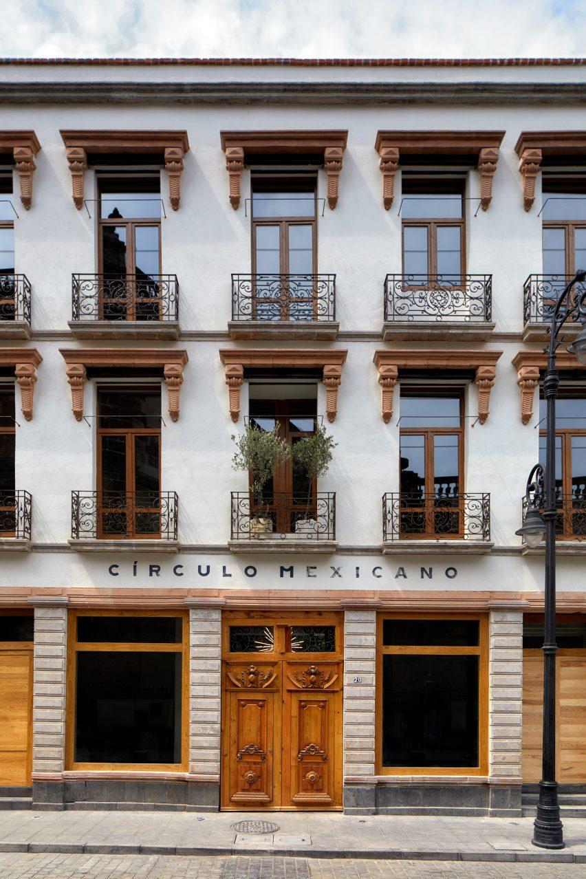 Exterior of Circulo Mexicano hotel in Mexico City by Ambrosi Etchegaray