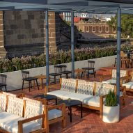 Roof terrace of Circulo Mexicano hotel in Mexico City by Ambrosi Etchegaray