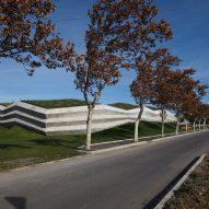 Concrete exterior of Coffee Production Plant by Giorgi Khmaladze Architects