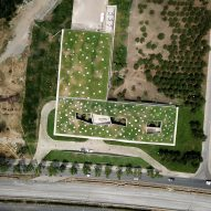 Green roof of Coffee Production Plant by Giorgi Khmaladze Architects