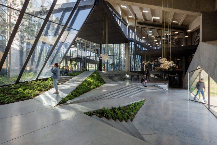 Lobby of Coffee Production Plant by Giorgi Khmaladze Architects
