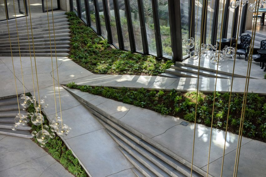 Lobby ofCoffee Production Plant by Giorgi Khmaladze Architects