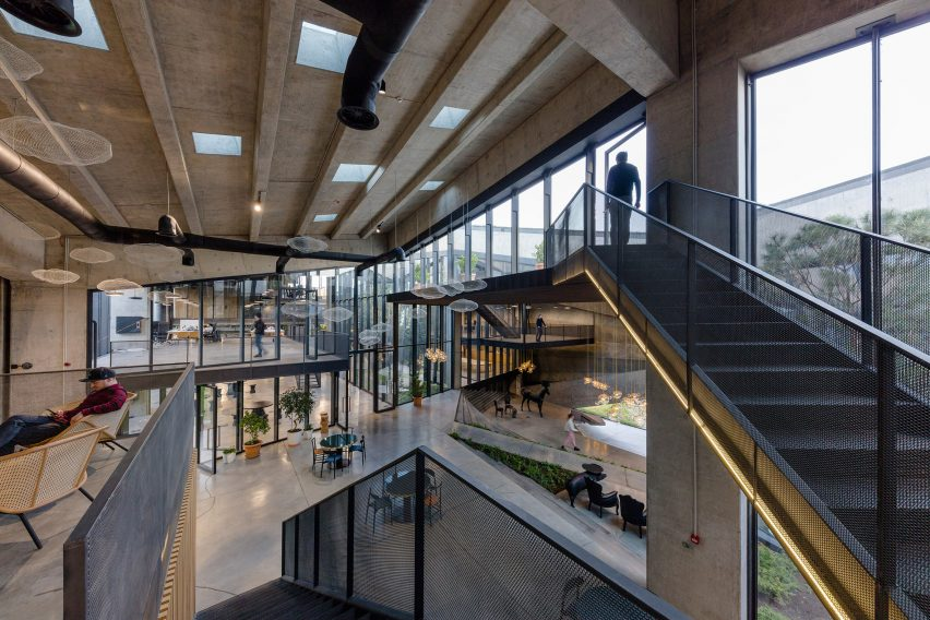 Staircase of Coffee Production Plant by Giorgi Khmaladze Architects