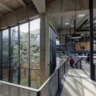 Lightwell of Coffee Production Plant by Giorgi Khmaladze Architects