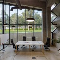 Work space in Coffee Production Plant by Giorgi Khmaladze Architects