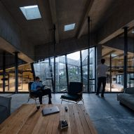 Meeting room of Coffee Production Plant by Giorgi Khmaladze Architects