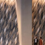 Inside of Collins Arch in Melbourne by Woods Baggot and SHoP Architects