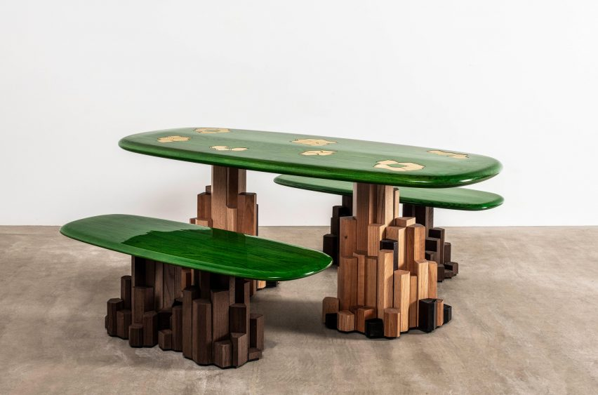 Ini Archibong was among the nine designers that took part in the Connected exhibition