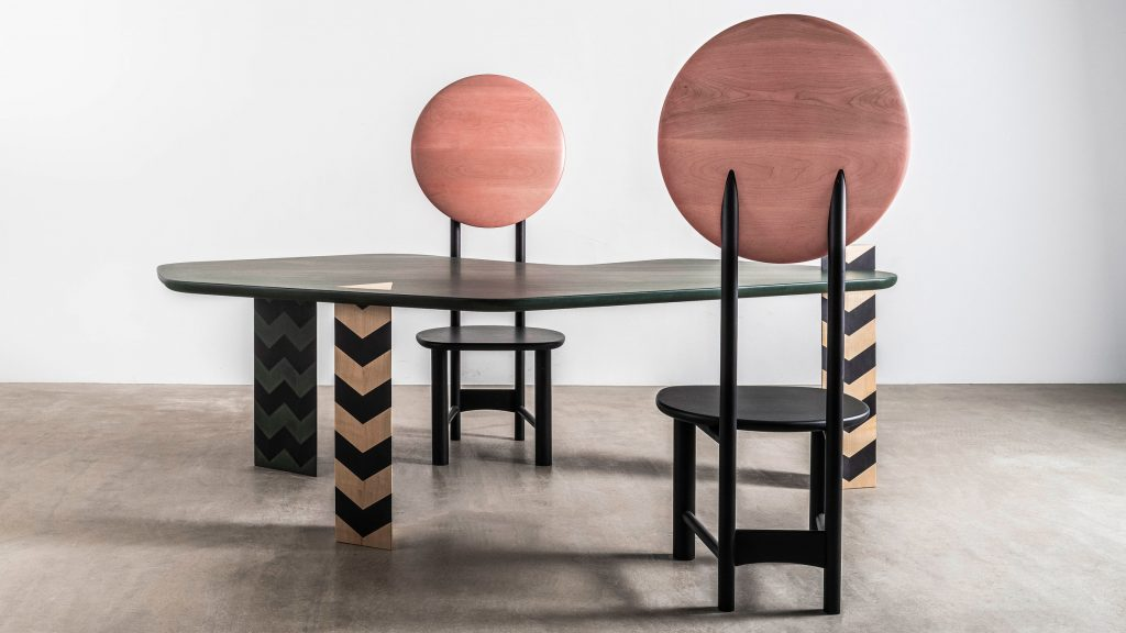 Connected virtual exhibition sees nine designers craft carbon-negative furniture from hardwoods