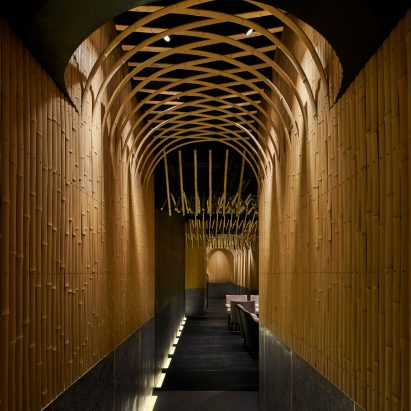 Interiors of Dongshang bar by Imafuku Architects