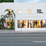 Exterior of Dries Van Noten's first US store in Los Angeles