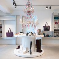 Interiors of Dries Van Noten's first US store in Los Angeles