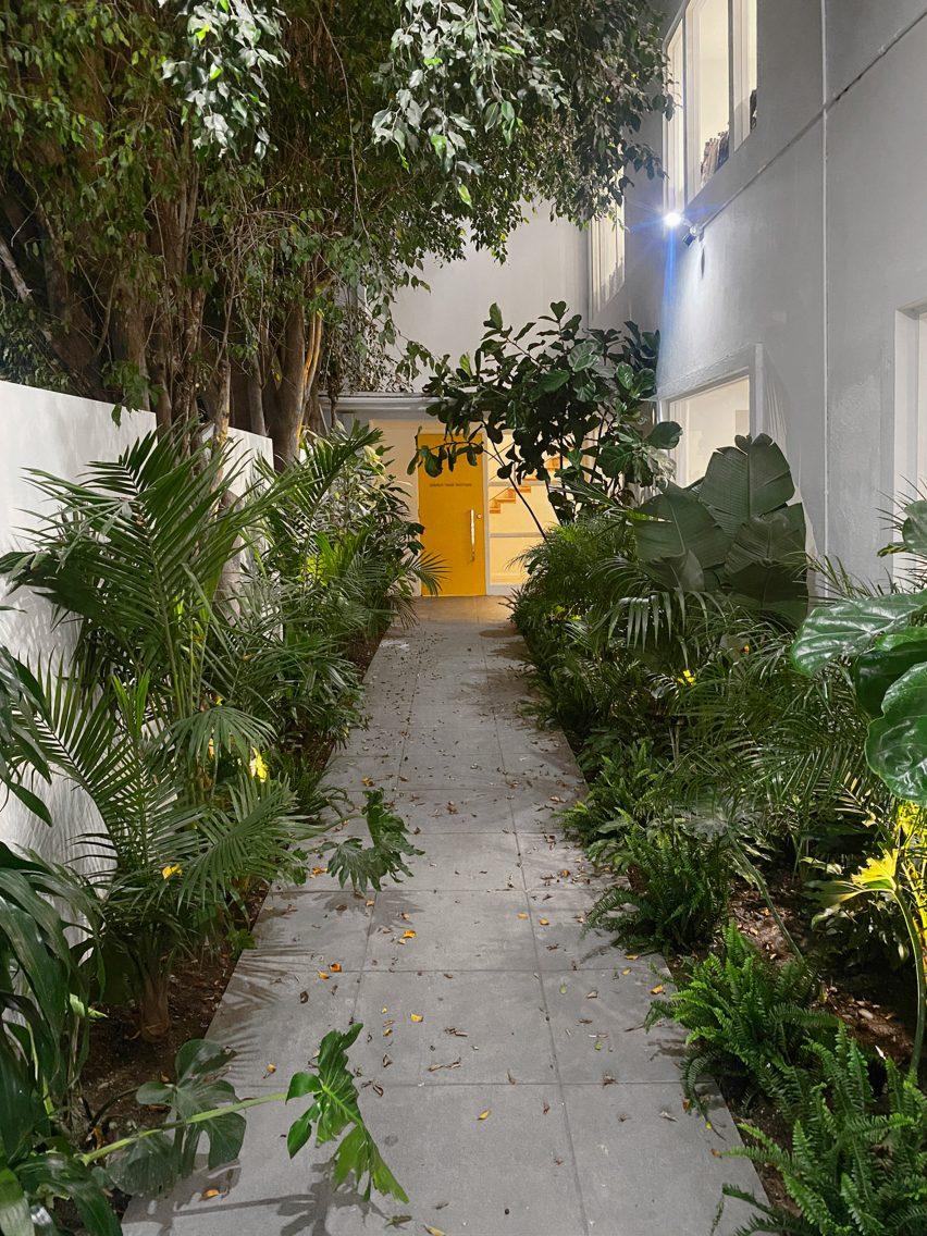 Exterior of Dries Van Noten's first US store in Los Angeles
