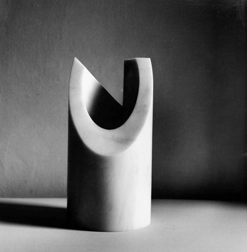 Marble vase from the Paros seriesfor Danese Milano, 1964