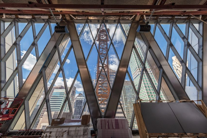 Diagrid Floor in 425 Park Avenue