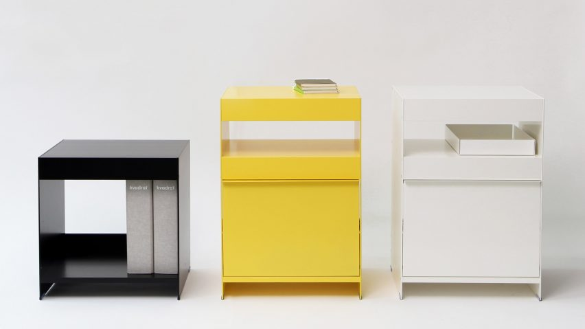 Side tables from ON&ON's freestanding shelving system