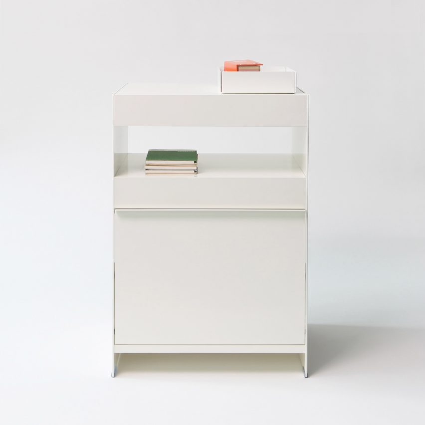 Large side table from ON&ON's freestanding shelving system