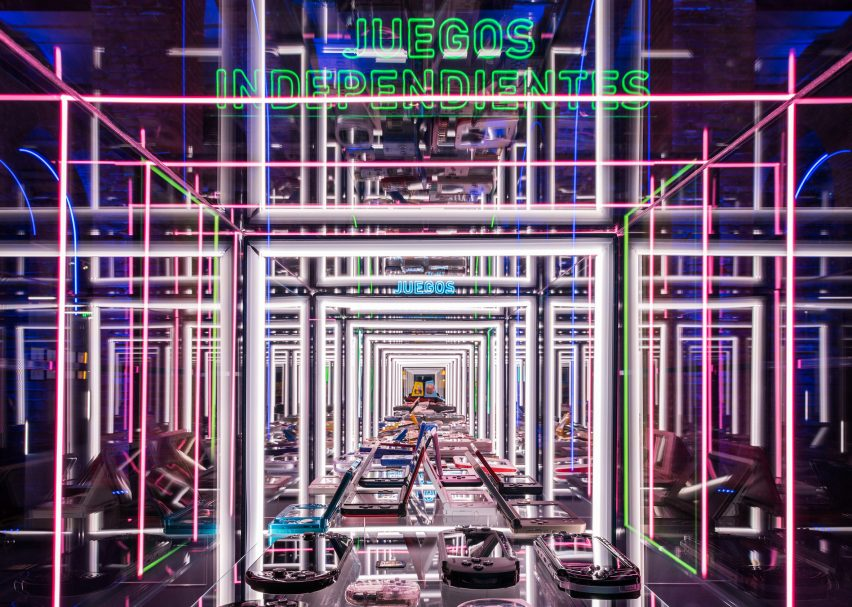LED frames in Smart & Green Design's video game exhibition design