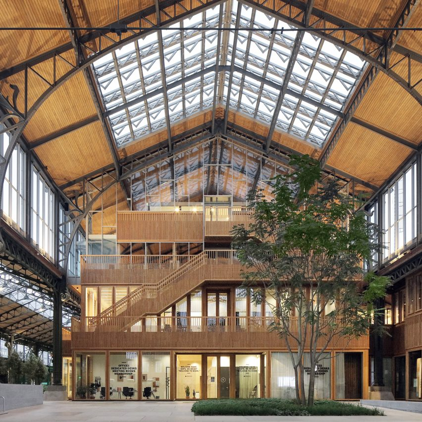Gare Maritime in Brussels turned into a timber shopping centre