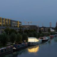 Exterior of the floating Genesis church by Denizen Works in east London