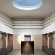 Interiors of the floating Genesis church by Denizen Works in east London