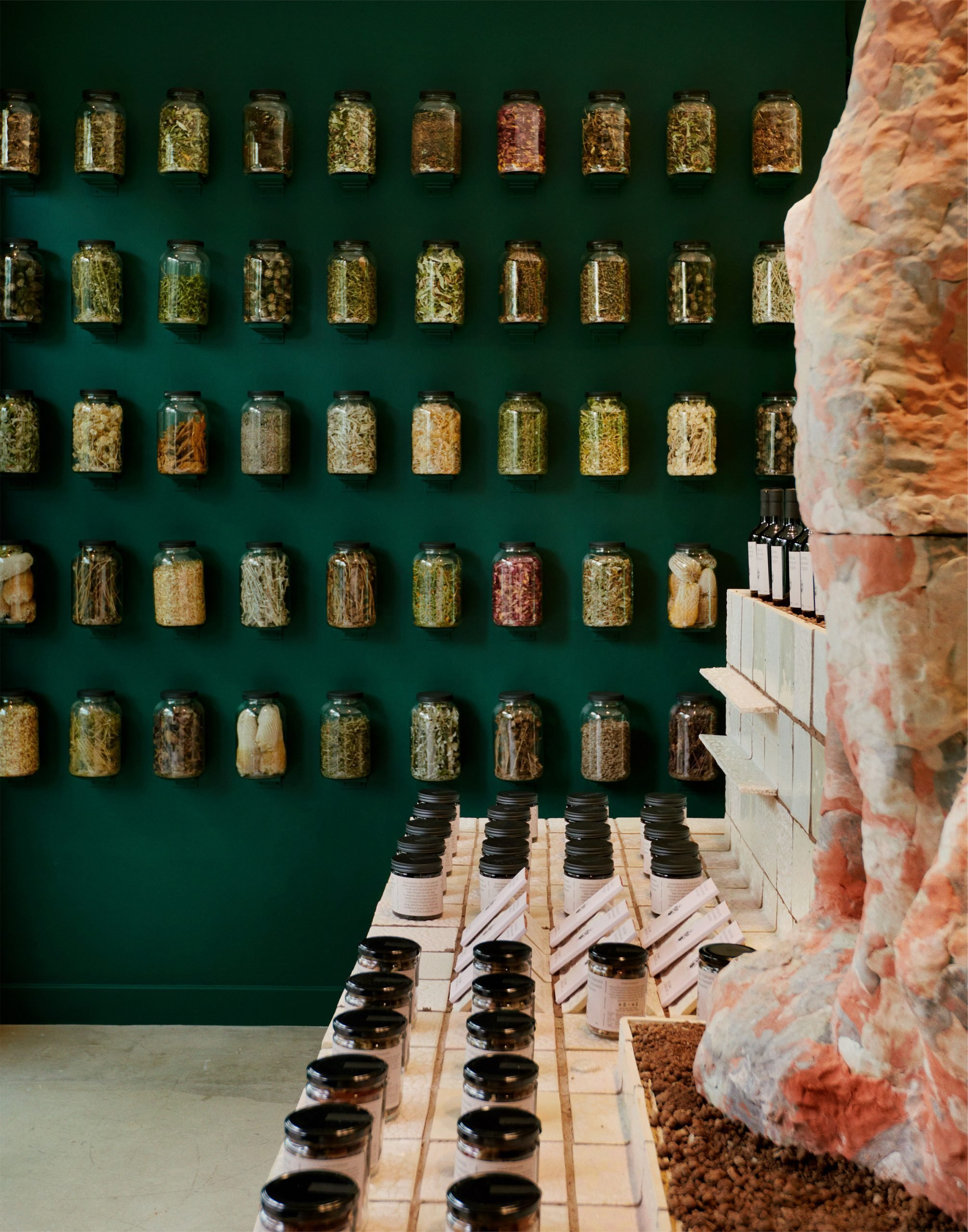 Interiors of Flamingo Estate's Harvest Shop pop-up