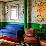 Luke Edward Hall stirs print and colour inside Hotel Les Deux Gares in Paris
