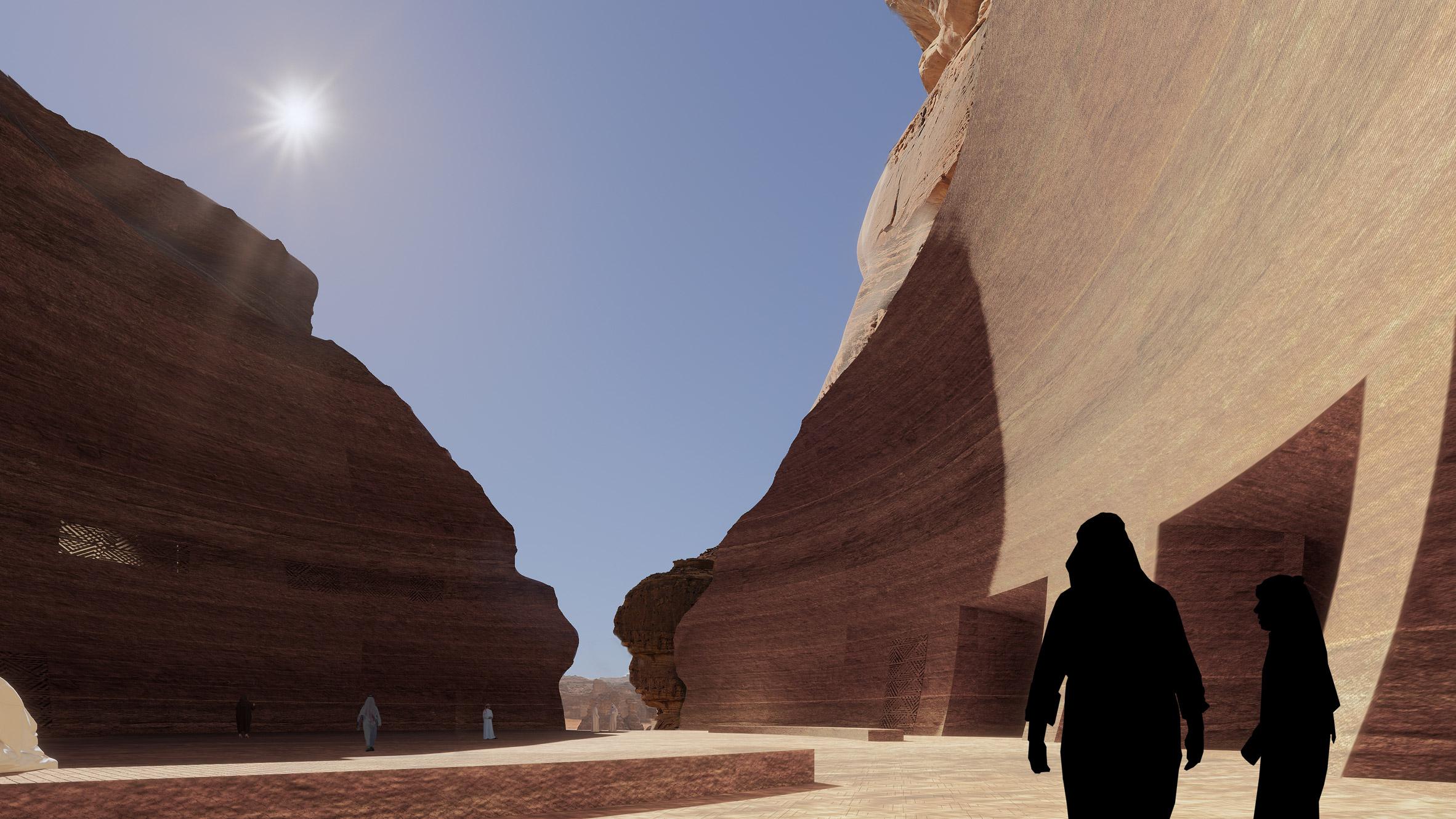 Cave hotel in Saudi Arabia's AlUla desert