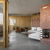 Interior view of the La Nave apartment in Madrid by Nomos