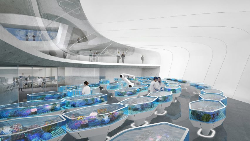 """Contreras Earl Architecture designs """"living ark"""" for coral conservation near Great Barrier Reef"""
