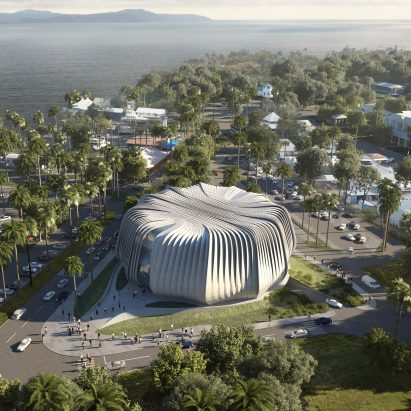 "Contreras Earl Architecture designs ""living ark"" for coral conservation near Great Barrier Reef"
